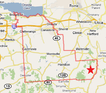 Similiar Map Of Madison County Ny Area Keywords
